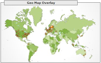 Geographical reader location, December 2005