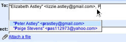 GMail screenshot autocomplete feature