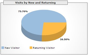 Visits by New and Returning, January 2006