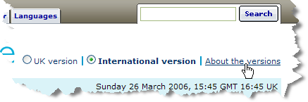 bbc.co.uk describing its different versions