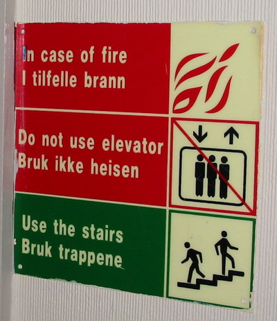 Emergency Sign at Hotel