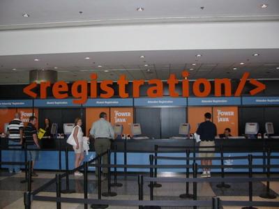 JavaOne registration