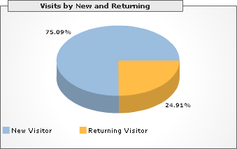 Visits by New and Returning, Year 1