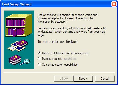 windows help wizard
