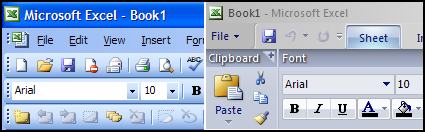 Microsoft Office Excel 2003 vs. 2007 - Thumbnail