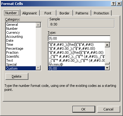 automatic excel time format without colon in input